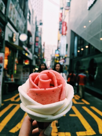 Rose Ice Cream Myeongdong Street Food